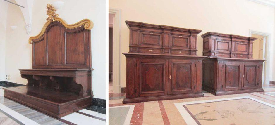 Wood Restoration Heritage Palazzo Pontificio Sacrestia